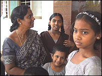 Sandhya Reddy and some of the girls in Aarti Children's Home