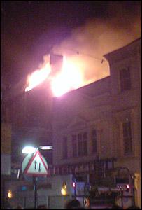 Gwyn Hall fire (pic: Brett Thomas)