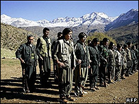 PKK rebels in northern Iraq (file pic)