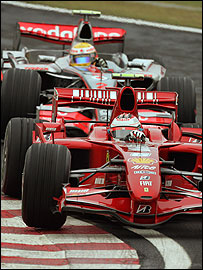 Lewis Hamilton (top) and Kimi Raikkonen