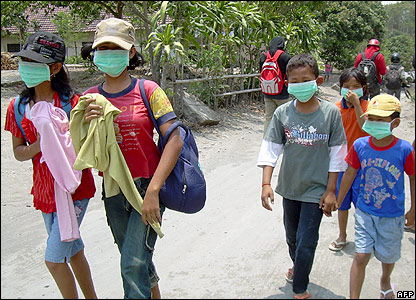 Young people wearing protective masks
