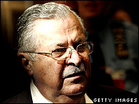 Jalal Talabani in New York on 18 September 2007