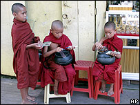 Child monks in Rangoon