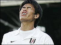 Fulham's Seol Ki-Hyeon after a first-half miss against Derby