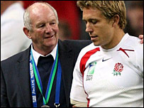 England coach Brian Ashton and fly-half Jonny Wilkinson