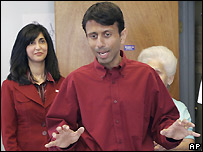 Bobby Jindal and his wife Supriya - 20/10/2007