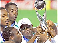 Nigeria celebrate winning the under-17 World Cup in 2007
