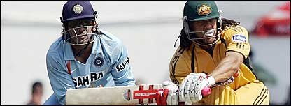 Mahendra Dhoni and Andrew Symonds