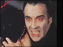 Christopher Lee as Dracula courtesy of Warner Home Video publicity