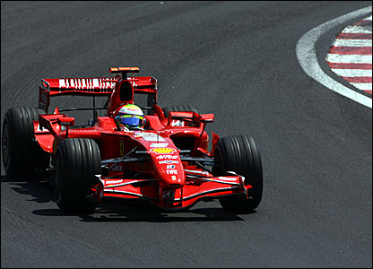 Felipe Massa leads the Brazilian Grand Prix
