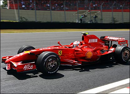 Kimi Raikkonen at Interlagos