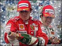Kimi Raikkonen and Fernando Alonso