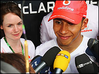 Lewis Hamilton faces the press after failing to win the F1 title