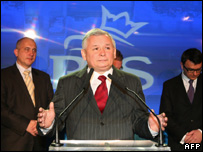 Prime Minister Jaroslaw Kaczynski admits defeat in Poland's general election