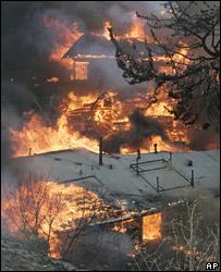 Fires in Malibu (21 October 2007)