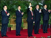President Hu Jintao and other members of the standing committee