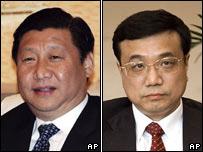Xi Jinping (izquierda) y Li Keqiang