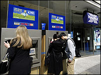Halifax customers at ATMs