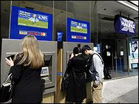 Halifax customers at ATMs