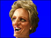 Spitting Image mask of Princess Diana