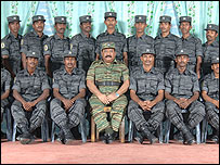 Tamil Tiger leader Prabhakaran and Tamil Tiger suicide fighters.