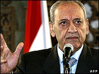 Speaker of the Lebanese parliament Nabih Berri