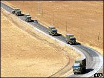 Turkish convoy near border