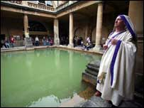 Character at the Roman Baths, Bath