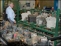 Peter Hobson and car parts