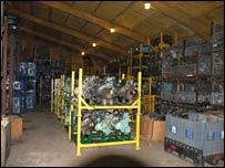 Parts in barn