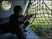 Soldado mexicano en operación antidrogas