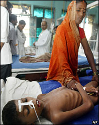 A file photo of a encephalitis patient in Gorakhpur, Uttar Pradesh