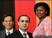 Immigrants from China, Russia and Ghana in Germany after citizenship ceremony