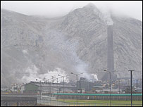 The Doe Run plant in La Oroya