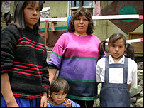 Ruth Fajardo and her children Cinthia, Melany and Brando