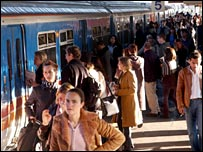 People at Clapham Junction railway station