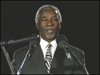 South Africa President Thabo Mbeki