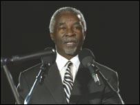 South Africa President Thabo Mbeki