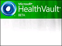Screengrab of Microsoft HealthVault