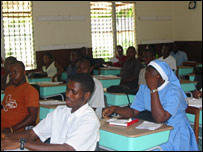 Classroom at Mother Patern College in Monrovia
