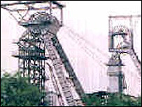 Coal mine shaft in India