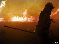 Fires near Irvine