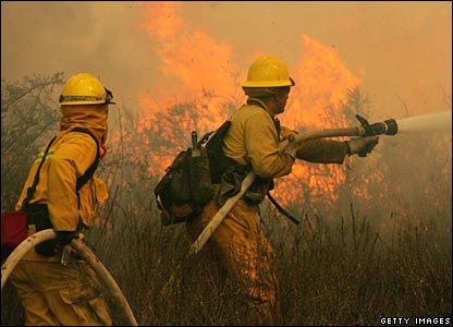 Firefighters in Escondido on Tuesday