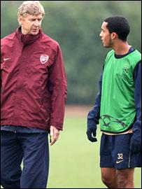 Arsene Wenger and Theo Walcott