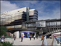 An image of the revamped Blackfriars Station
