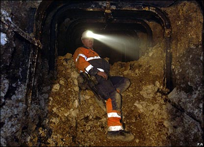 Mining engineer in Silbury Hill tunnel