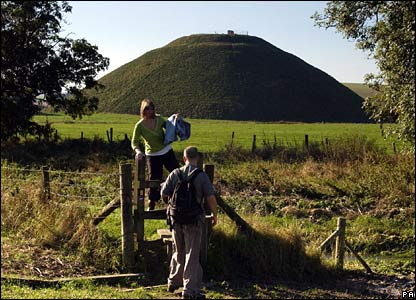 Silbury Hill in Wiltshire