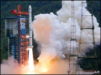 China's Moon module taking off from Xichang