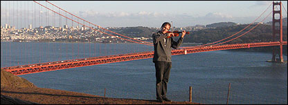 David Juritz at the Golden Gate, San Francisco