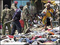 Kenyan police search for Mungiki members in Mathare, Nairobi